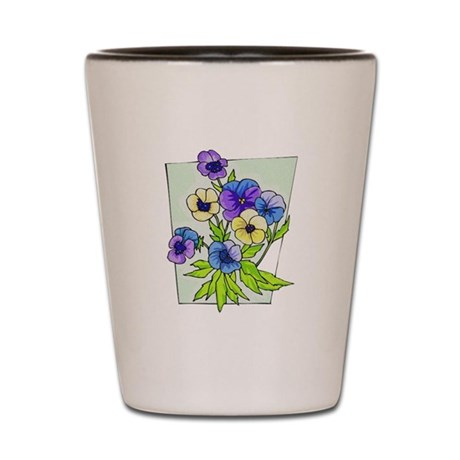Pansy Shot Glass