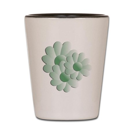 Pretty Daisy Trio - Green Shot Glass