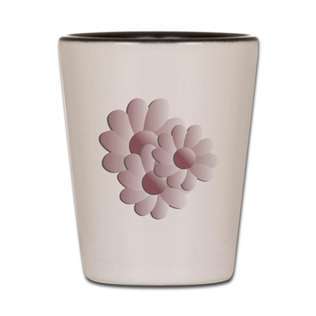 Pretty Daisy Trio - Pink Shot Glass