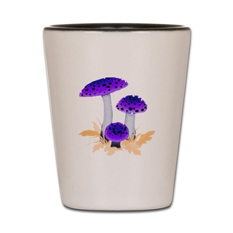 Purple Mushrooms Shot Glass