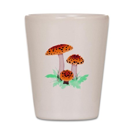 Orange Mushrooms Shot Glass