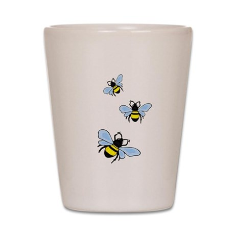 Bumble Bees Shot Glass