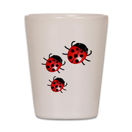 Lady Bugs Shot Glass