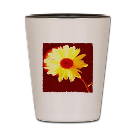 Hot Daisy Shot Glass