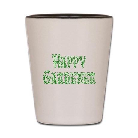 Happy Gardener Shot Glass