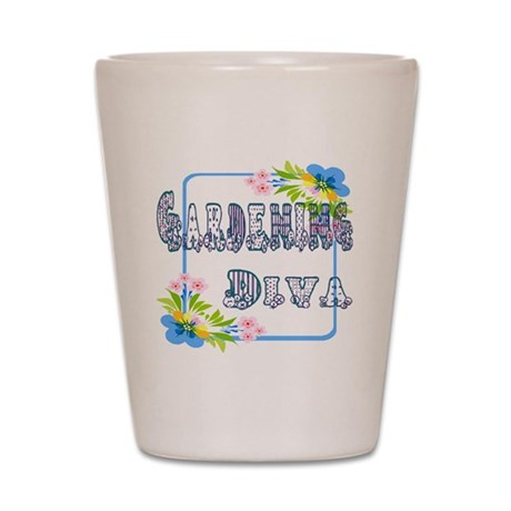 Gardening Diva Shot Glass