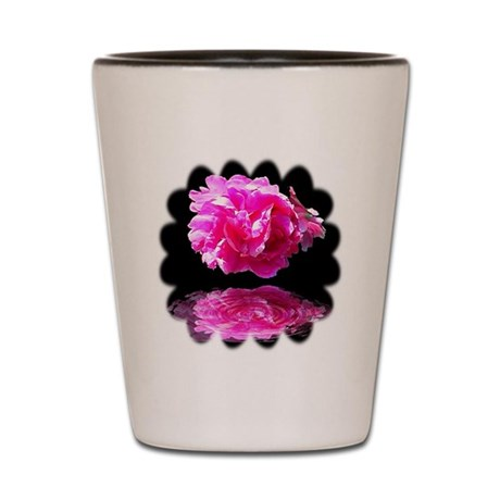 Peony Reflections Shot Glass