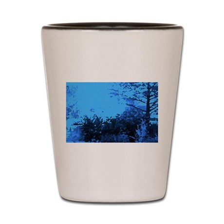 Blue Garden Shot Glass