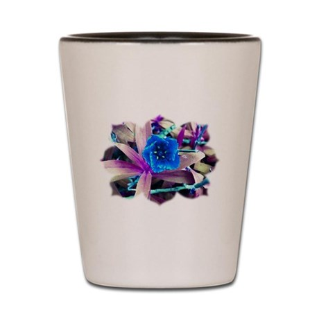 Blue Flower Shot Glass