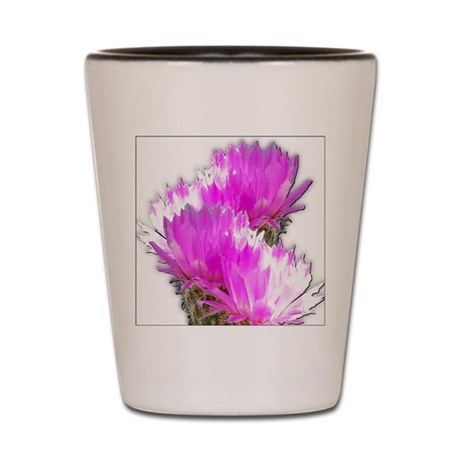 Cactus Blooms Shot Glass