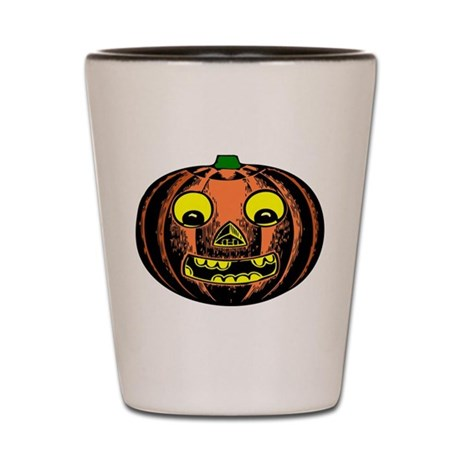 Vintage Jack-O-Lantern Shot Glass