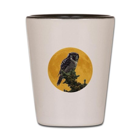Owl and Moon Shot Glass
