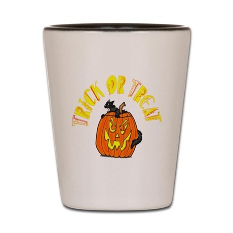 Jack o Lantern Cat Shot Glass