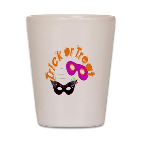 Trick or Treat Masks Shot Glass