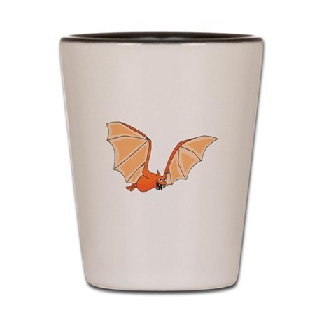 Flying Bat Shot Glass