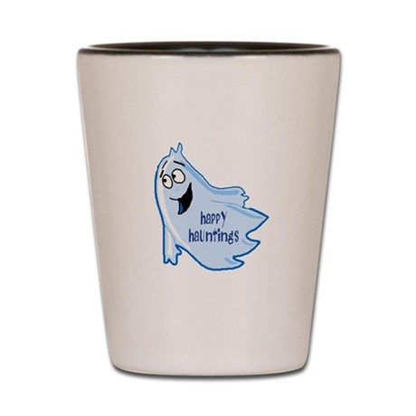 Happy Hauntings Shot Glass