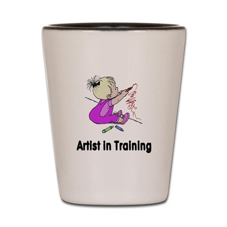 Artist in Training Shot Glass