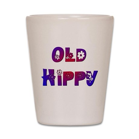 Old Hippy Shot Glass