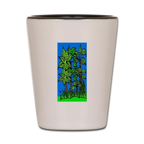 Abstract Trees Shot Glass