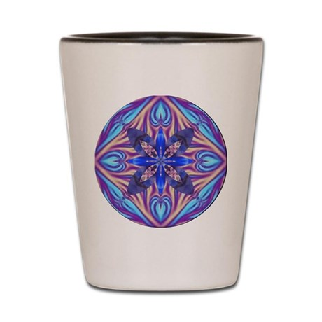 Kaleidoscope Fractal Shot Glass