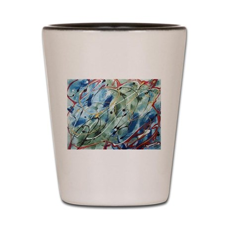 Untitled Abstract Shot Glass