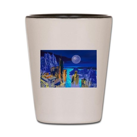 Fantasy Cityscape Shot Glass