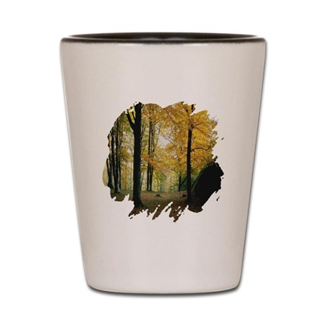 Autumn Woods Shot Glass