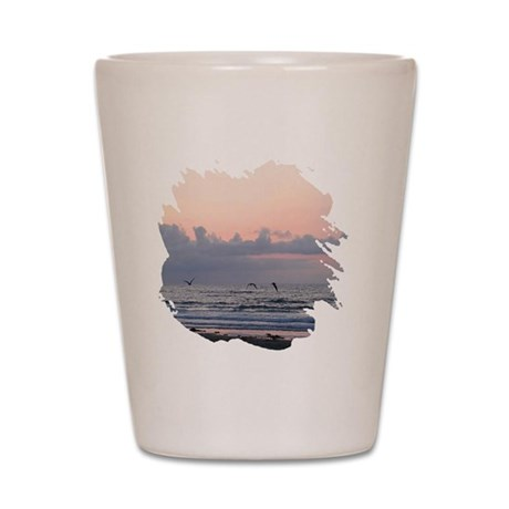 Seascape Shot Glass