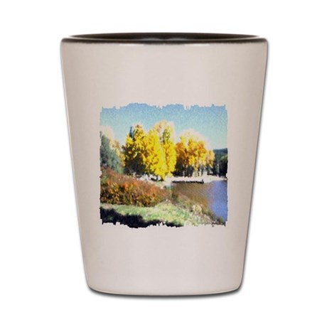 Autumn Lake Shot Glass