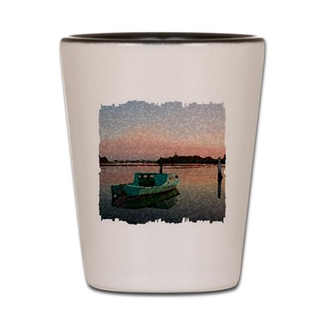 Sunset Boat Shot Glass