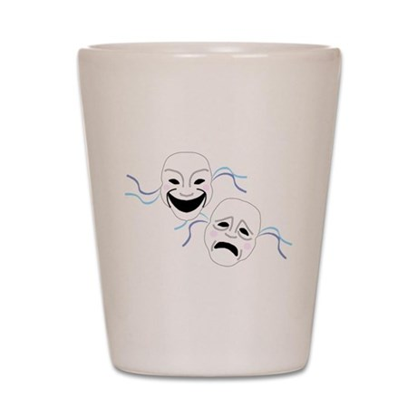 Theater Masks Shot Glass