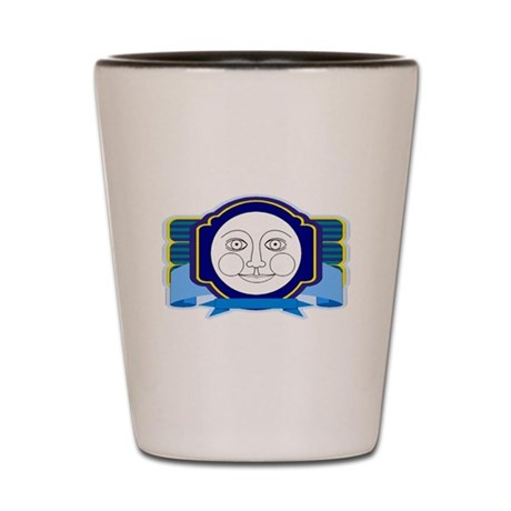 Blue Moon Face Shot Glass