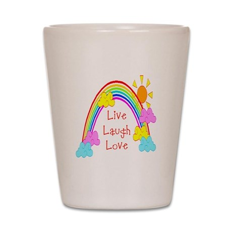 Rainbow Love Shot Glass