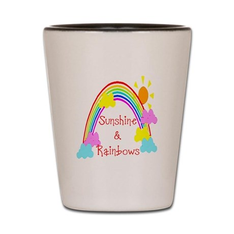 Sunshine Rainbows Shot Glass