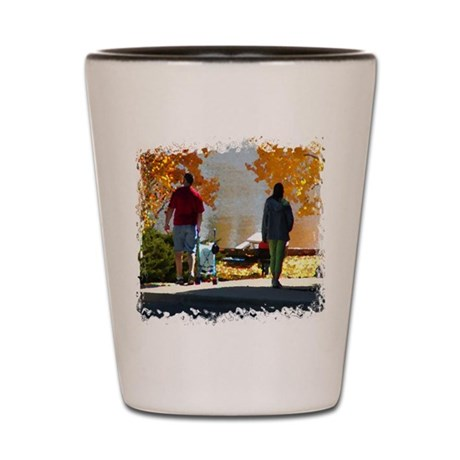 Early Autumn Stroll Shot Glass