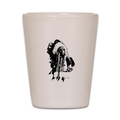 Indian Chief Shot Glass