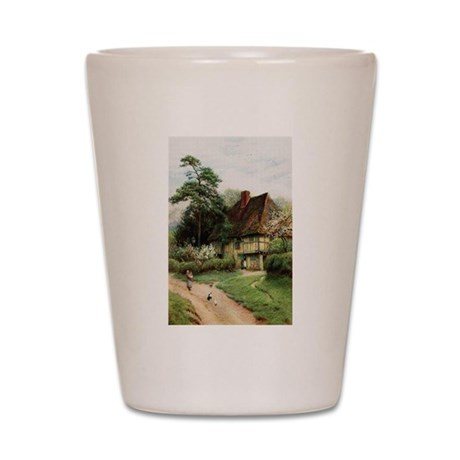English Country Cottage Shot Glass