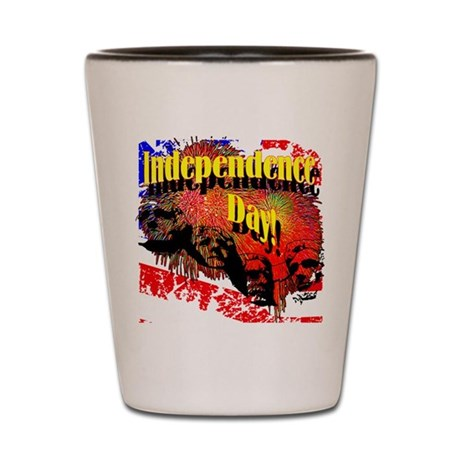 Independence Day Shot Glass
