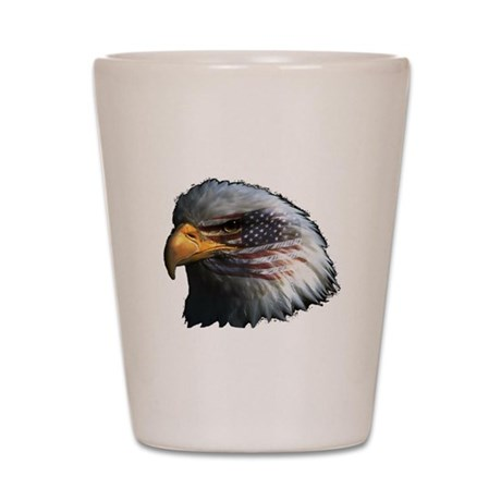 American Flag Eagle Shot Glass