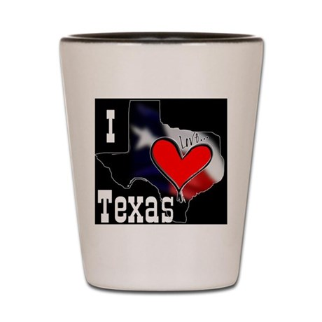I Love Texas Shot Glass
