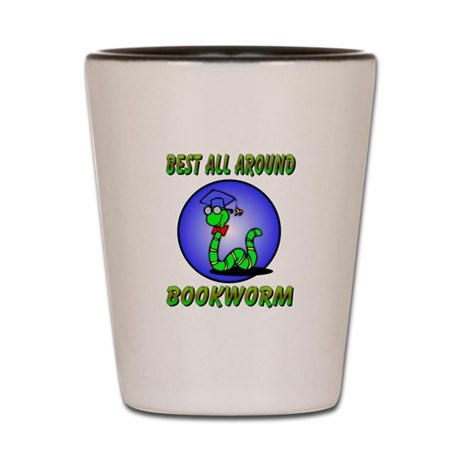 Best Bookworm Shot Glass