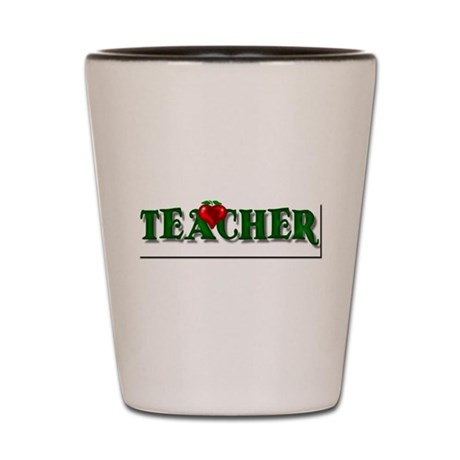 Teacher Apple Shot Glass