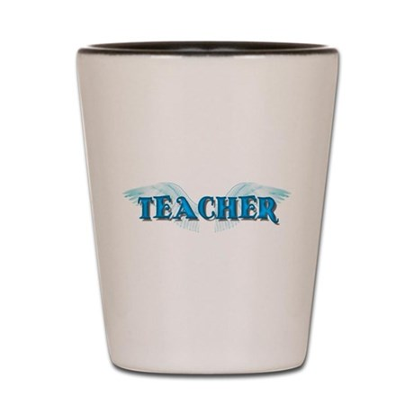 Angel Wings Teacher Shot Glass