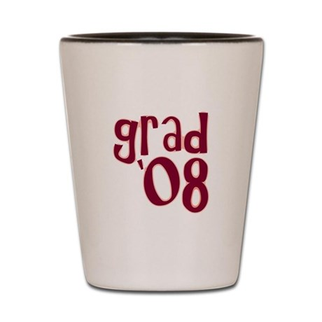 Grad 08 - Brick Red - Shot Glass