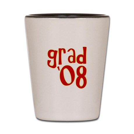 Grad 2008 - Red - Shot Glass
