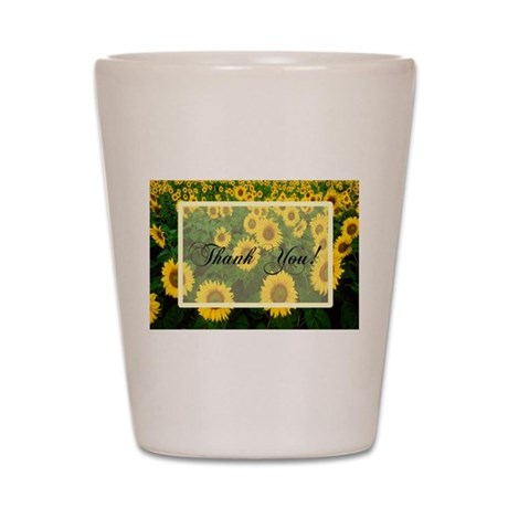 Sunflower Field Thanks Shot Glass