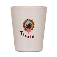 Thanks Turkey Shot Glass