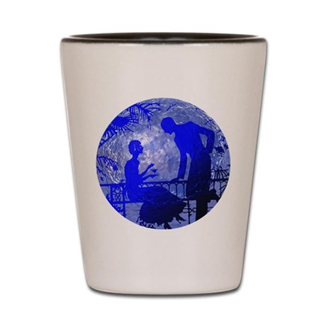 Blue Moon Lovers Shot Glass