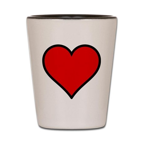 Simple Heart Shot Glass