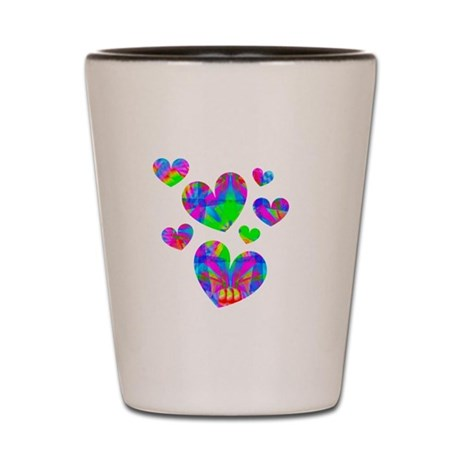 Kaleidoscope Hearts Shot Glass
